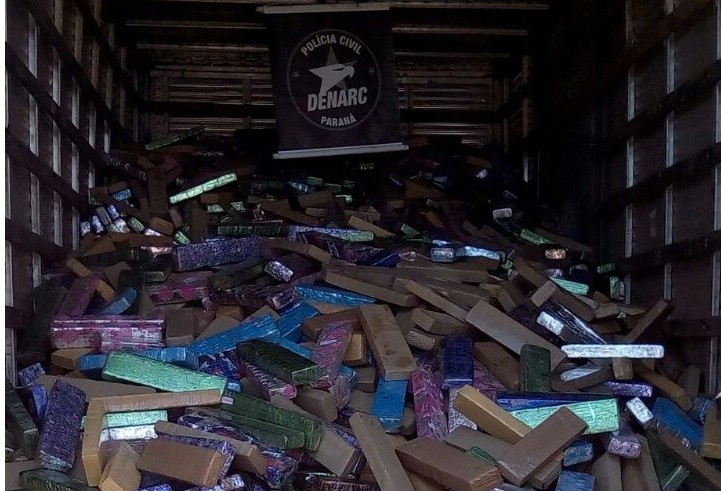 Denarc de Maringá apreende ao menos quatro toneladas de maconha