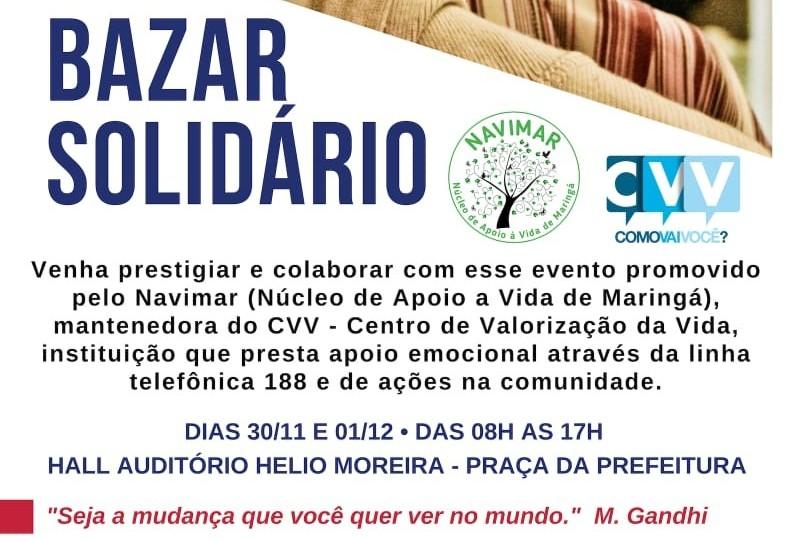 CVV realiza bazar para arrecadar fundos