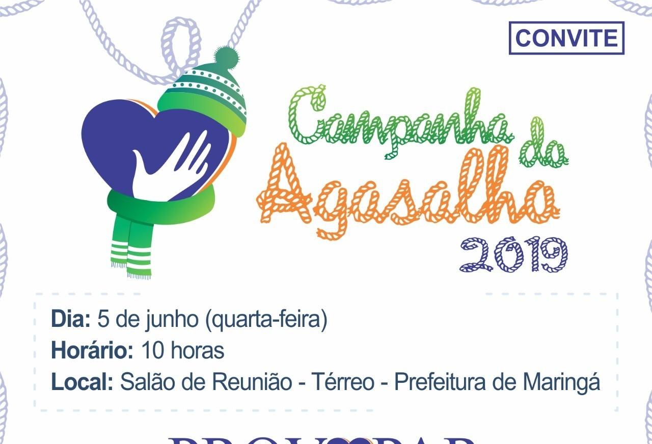Campanha do Agasalho de Maringá começa no dia 5 de junho