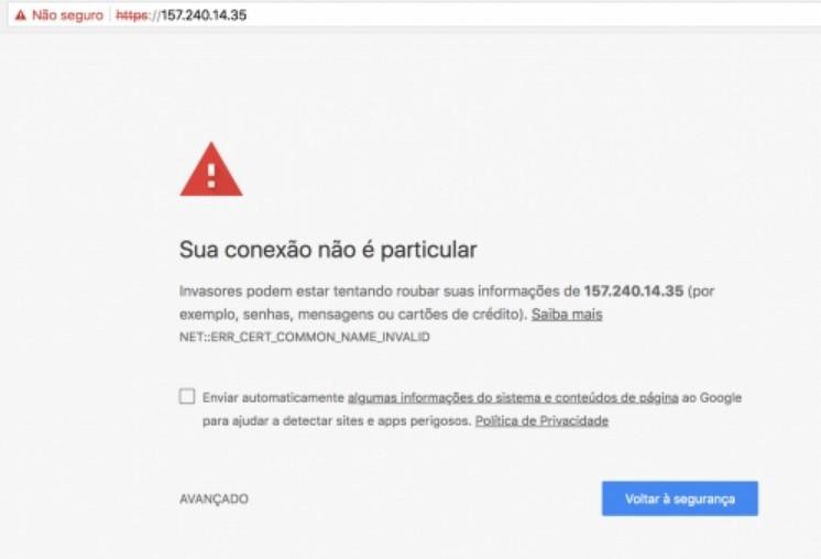 Google pune com aba de redirecionamento sites 'não-seguros'