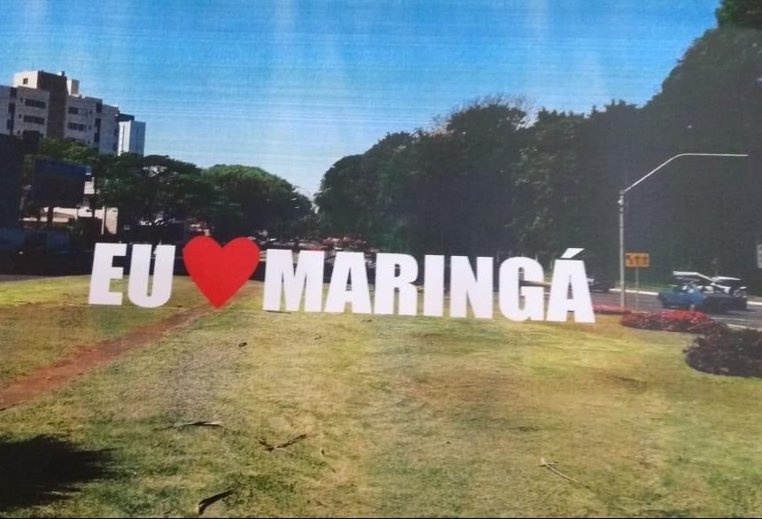 """Letreiro """"Eu Amo Maringá"""" será instalado perto do Parque do Ingá"""