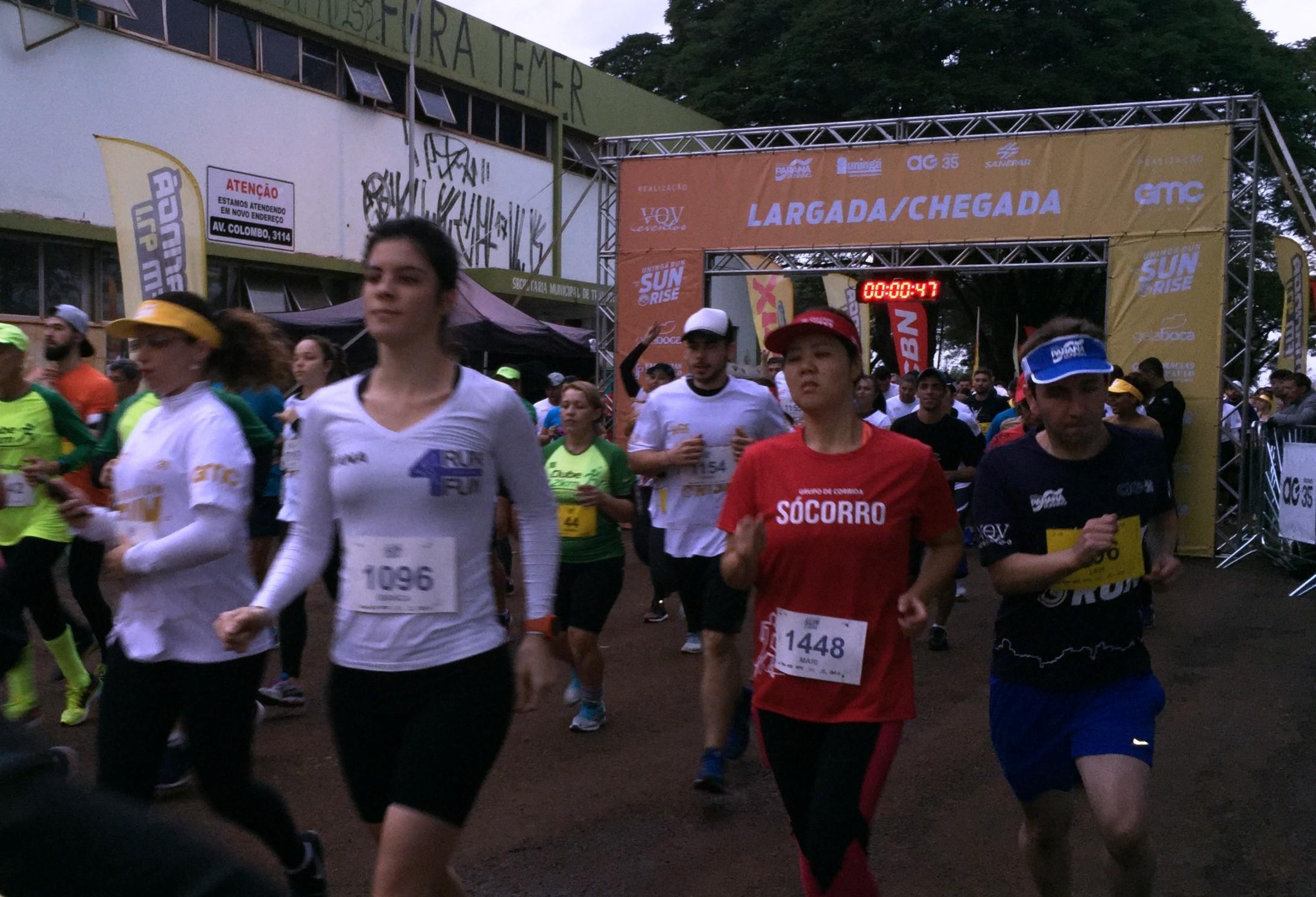 Mais de 1.500 atletas participam da etapa Sunrise