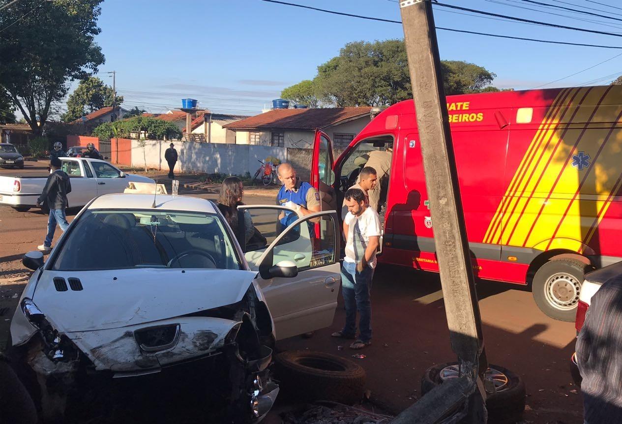 Motorista fica ferida em acidente no Conjunto Borba Gato