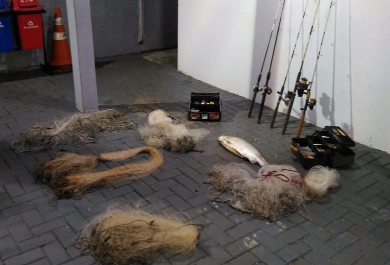 Oito pescadores são presos por pesca ilegal