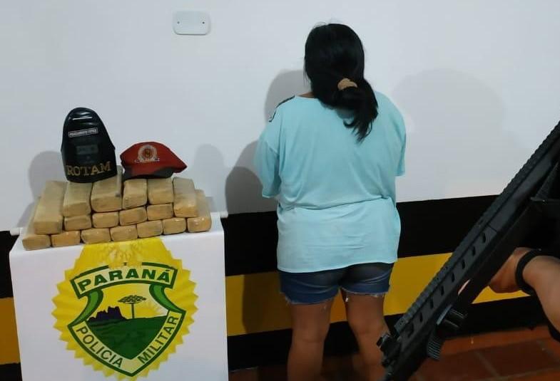 PRE apreende 15 kg de maconha com passageira de ônibus que viria a Maringá