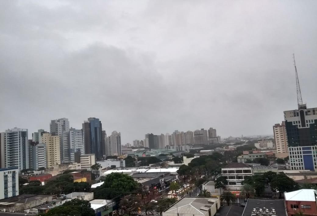 Simepar prevê fim de semana chuvoso para Maringá
