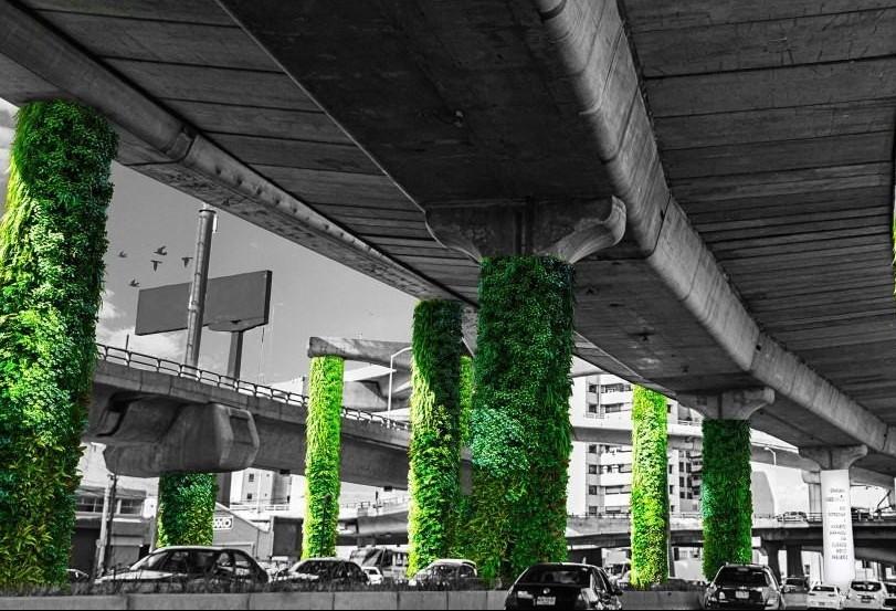 Projeto espalha 60 mil m² de jardins abaixo de viaduto na Cidade do México