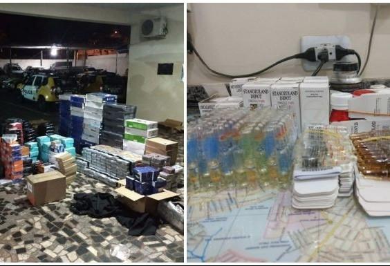 Seis são presos com eletrônicos e anabolizantes contrabandeados