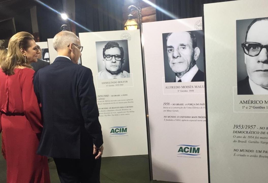 Acim comemora 66 anos homenageando ex-presidentes