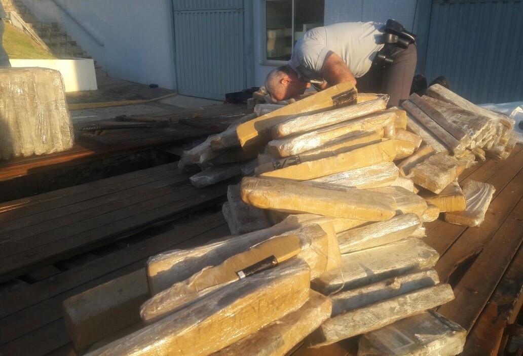 Denarc de Maringá monitora caminhão e apreende 500 kg de maconha
