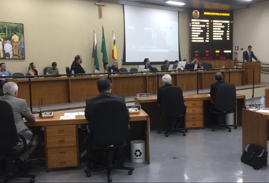 Penúltima sessão ordinária da Câmara tem pauta extensa e inúmeros projetos do Executivo