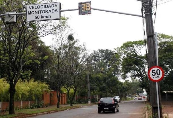 Multas por radares: 203 mil em um ano em Maringá
