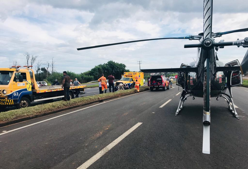 Trabalhador fica gravemente ferido ao ser atropelado na BR-376