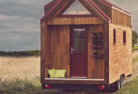 Casas itinerantes podem ser transportadas em caminhão