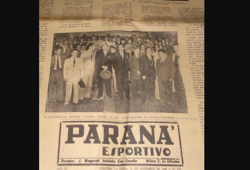 Jornal Paraná Esportivo acompanhou avanço dos times da época