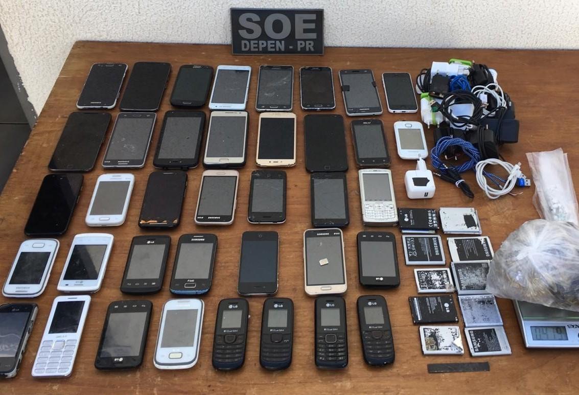 SOE apreende 38 celulares na cadeia pública de Marialva