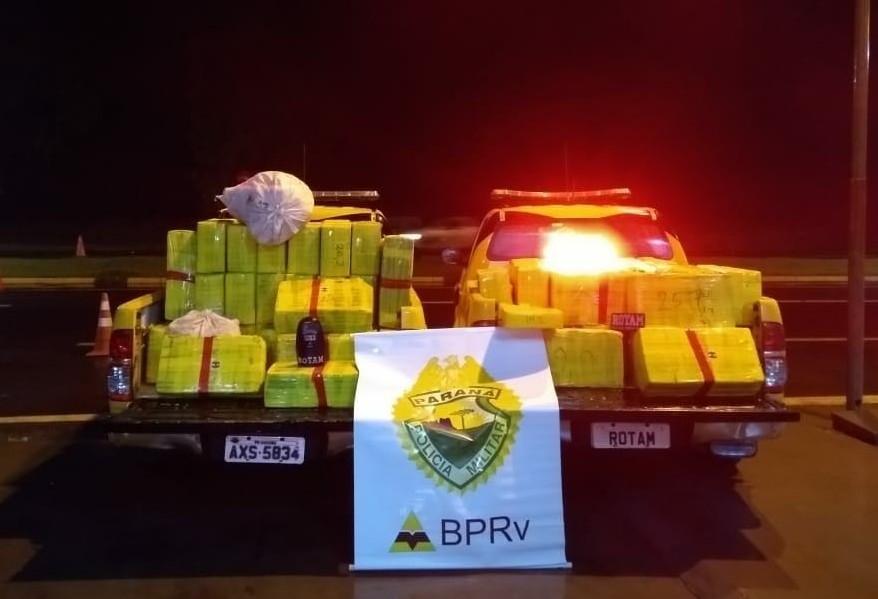 Mais de duas toneladas de maconha são apreendidas em caminhão na BR-487