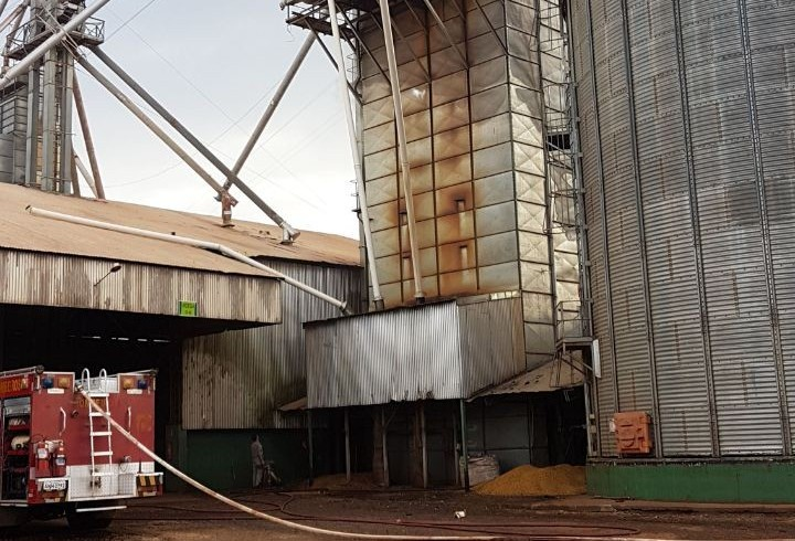 Secador de silo pega fogo