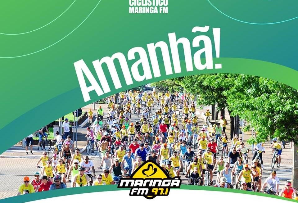 Passeio Ciclístico é atração neste fim de semana em Maringá