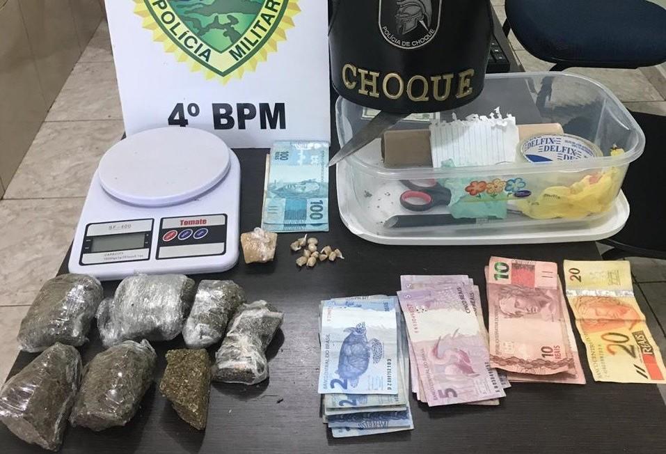 Polícia Militar apreende adolescente por tráfico de drogas