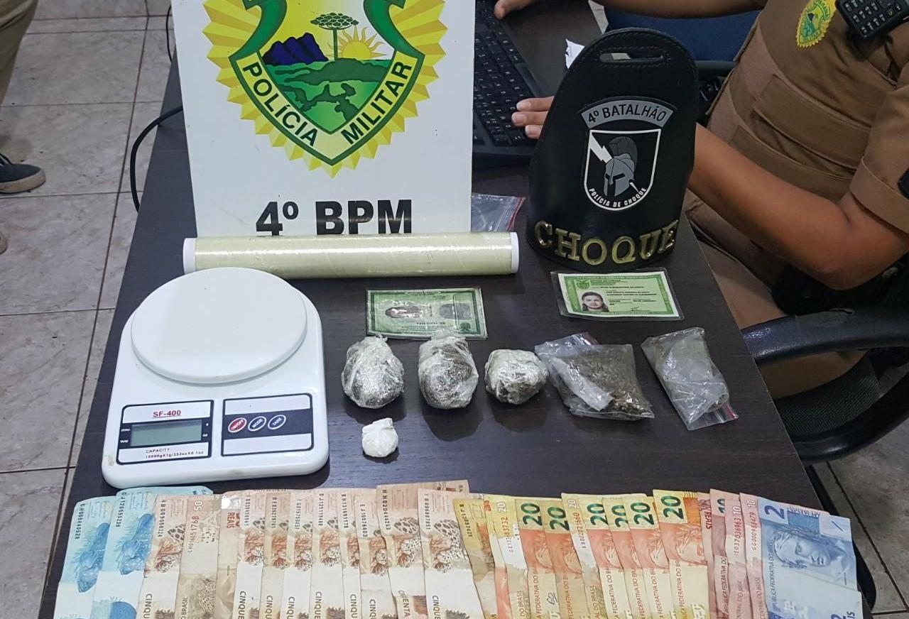 Dupla é presa por tráfico de drogas em Maringá