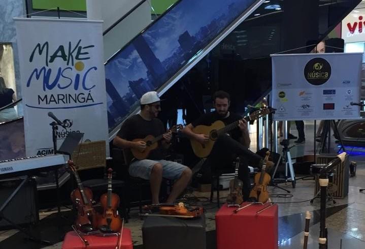 'Make Music' faz do shopping um palco