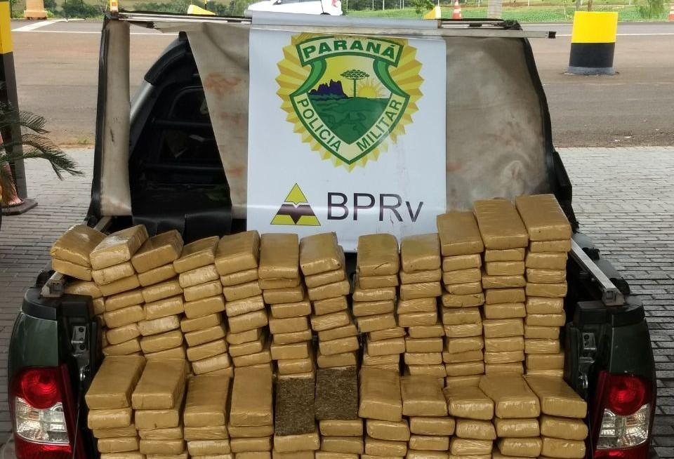 PRE apreende mais de 100kg de droga na PR -323