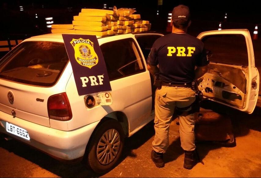 PRF apreende 81 kg de maconha na BR-487