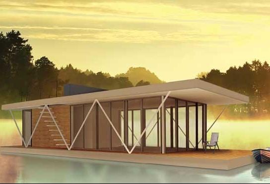 Casas modulares flutuantes estão previstas para 2022