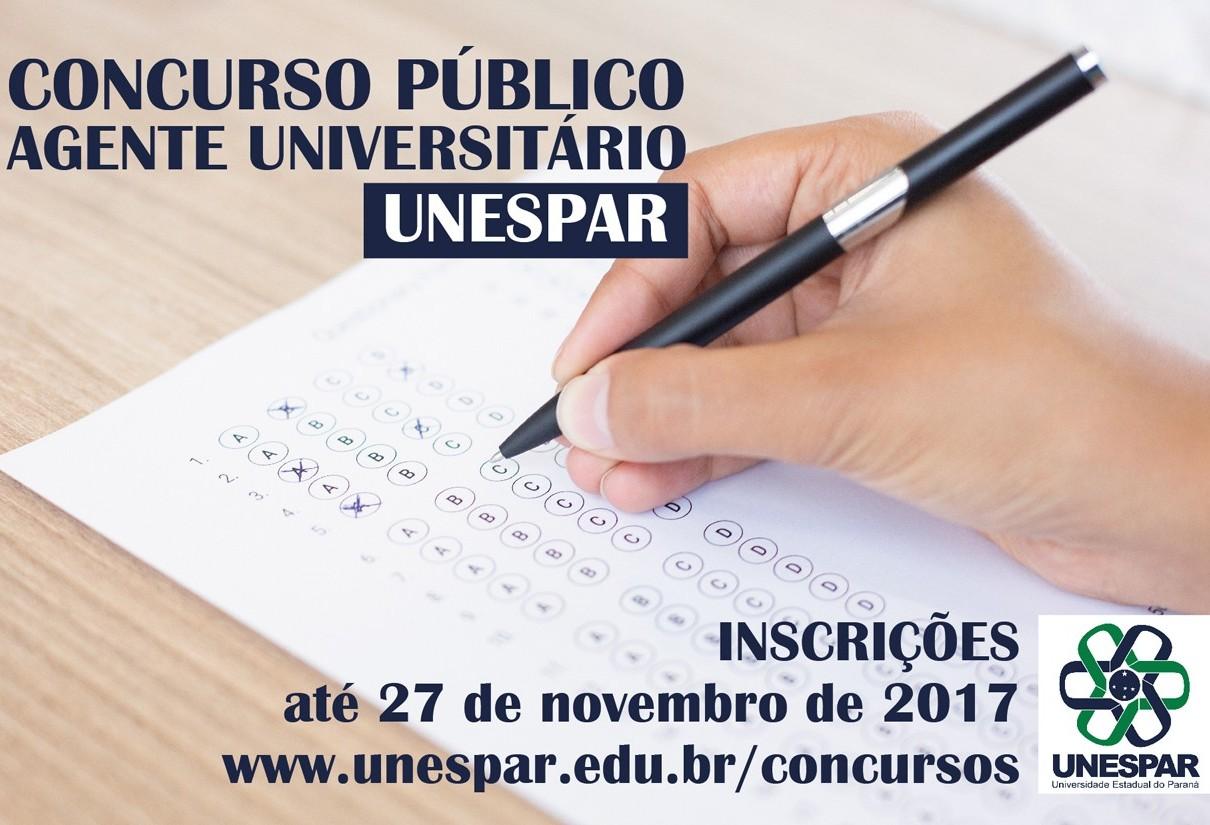 Unespar está com inscrições abertas para concurso público