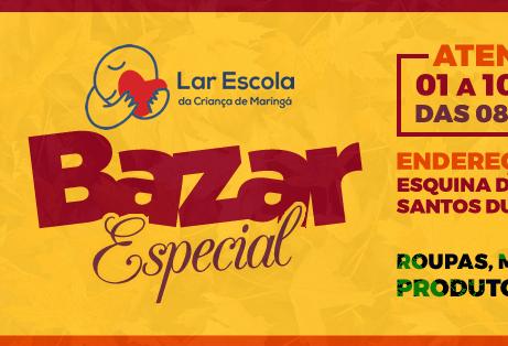 Bazar do Lar Escola vai até dia 10 de março