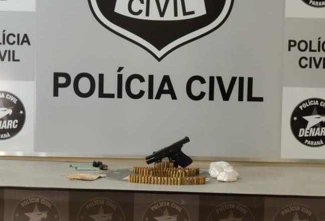 Duas pessoas são presas e 109 munições apreendidas pela Denarc
