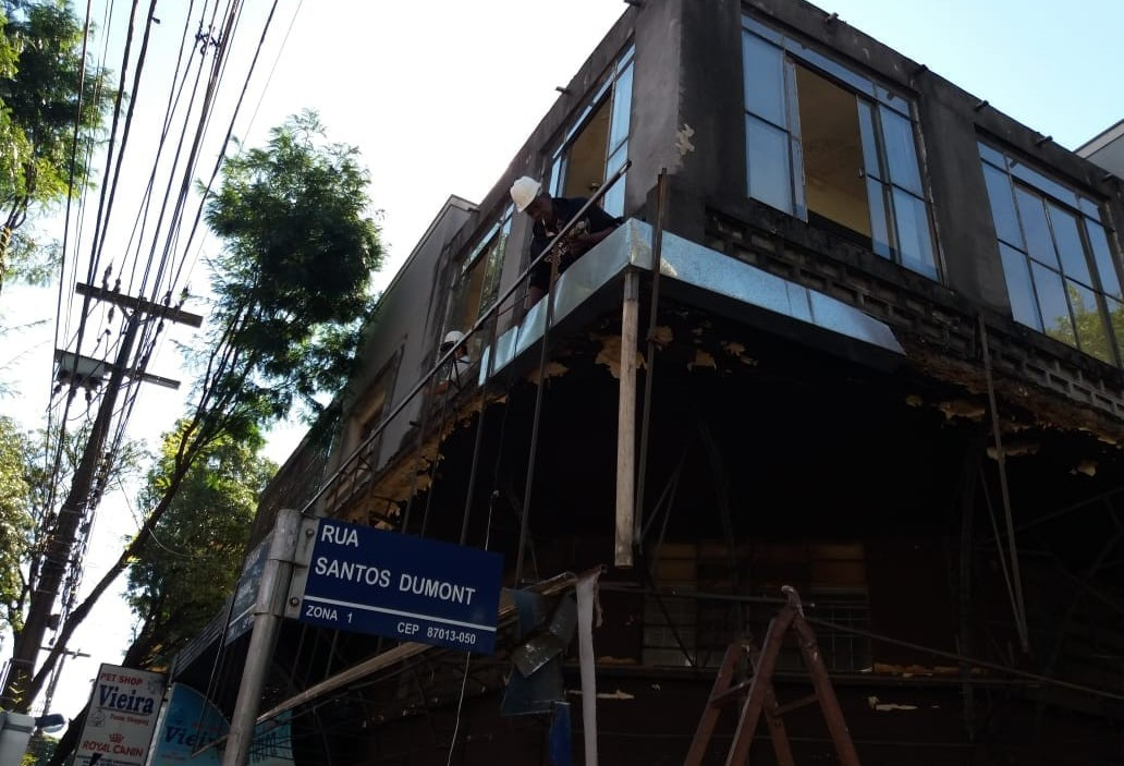 Defesa Civil constata irregularidade em fachada de prédio antigo em Maringá