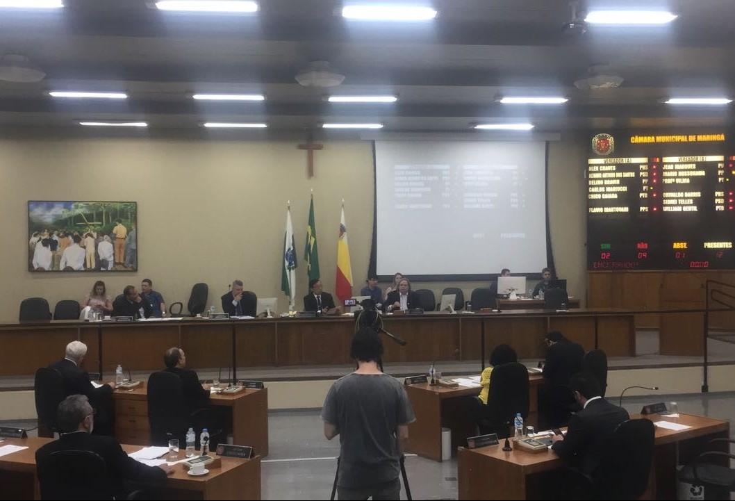 Câmara de Maringá vota projeto do Executivo