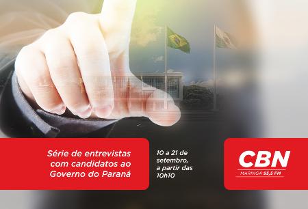 CBN Maringá realiza série de entrevistas com candidatos ao Governo do Paraná