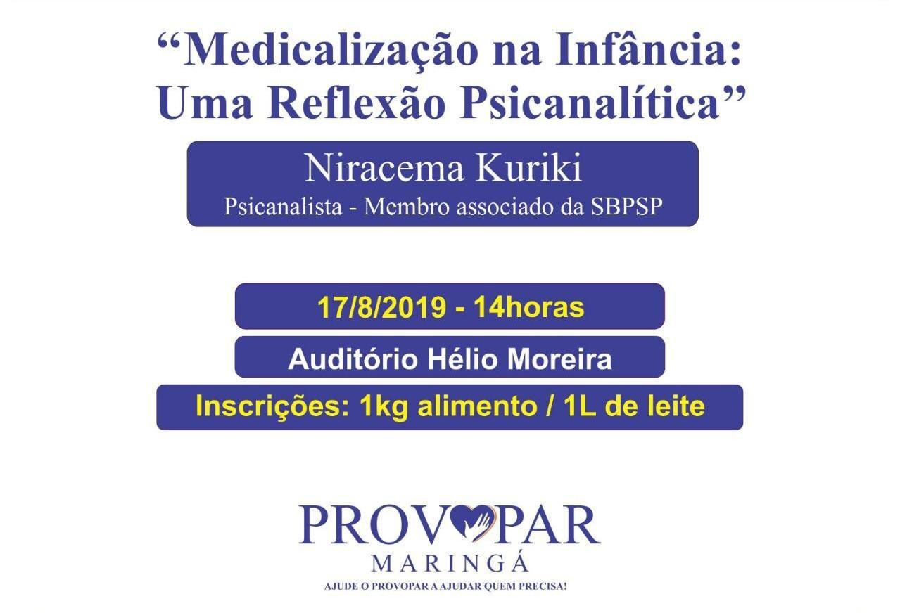 NPNP e o Provopar promovem palestra sobre medicalização na infância