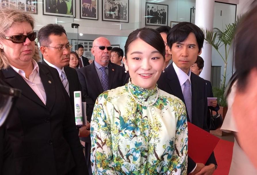 Princesa Mako participa das festividades dos 110 anos da imigração japonesa em Maringá