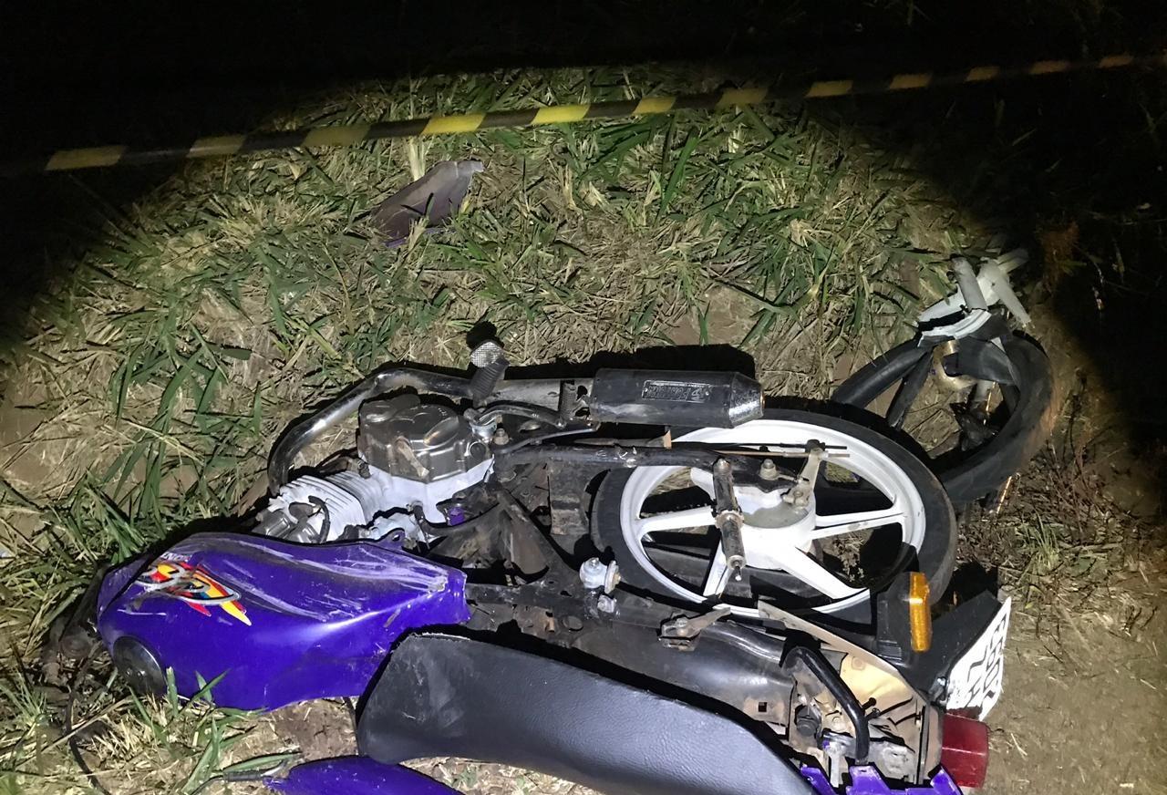 Motociclista de 17 anos morre em acidente