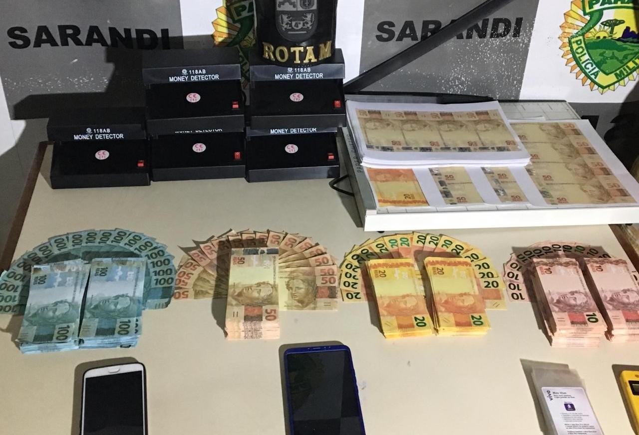 Rapaz de 20 anos é preso com 50 mil reais em notas falsas