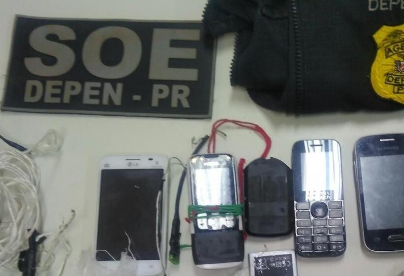 548 celulares foram apreendidos em cadeias do noroeste do Paraná