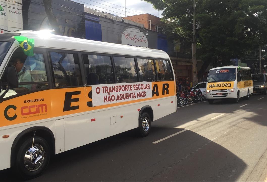 Empresas de transporte escolar podem parar a partir de segunda-feira (28)