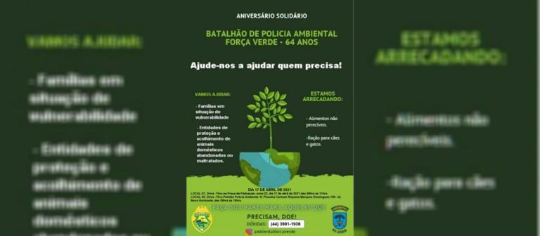 Polícia Ambiental promove drive-thru solidário para arrecadar alimentos