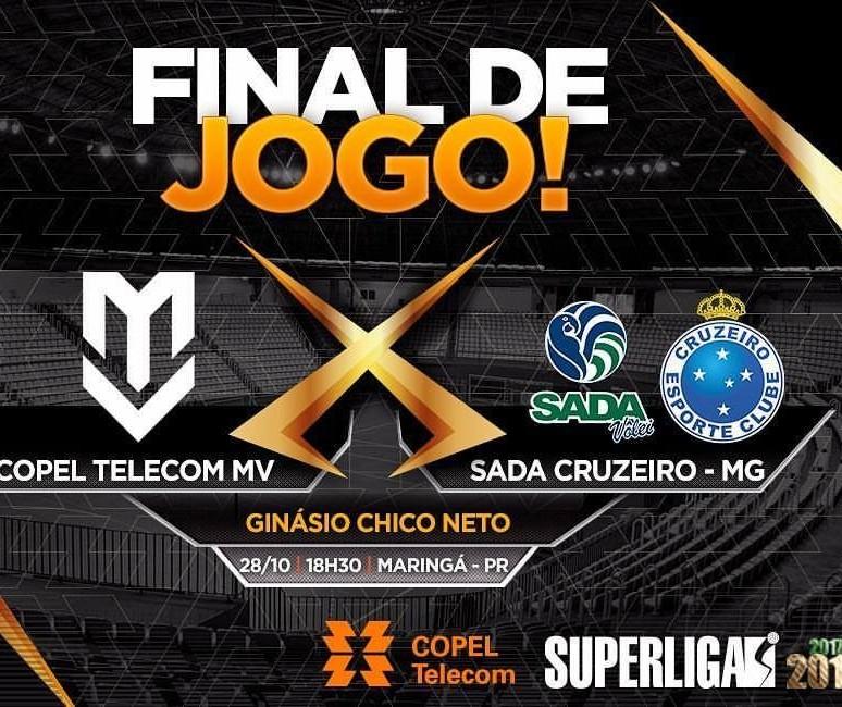 Maringá Vôlei perde para o Sada Cruzeiro por 3 sets a 1