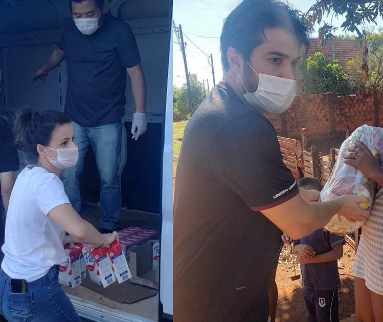 ONG distribui cestas básicas para famílias em Paiçandu