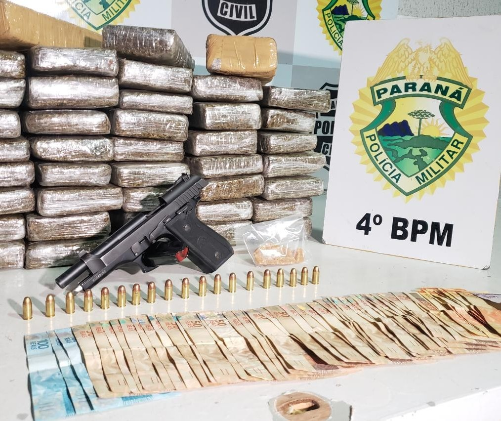 Homem é preso com droga e arma em Maringá