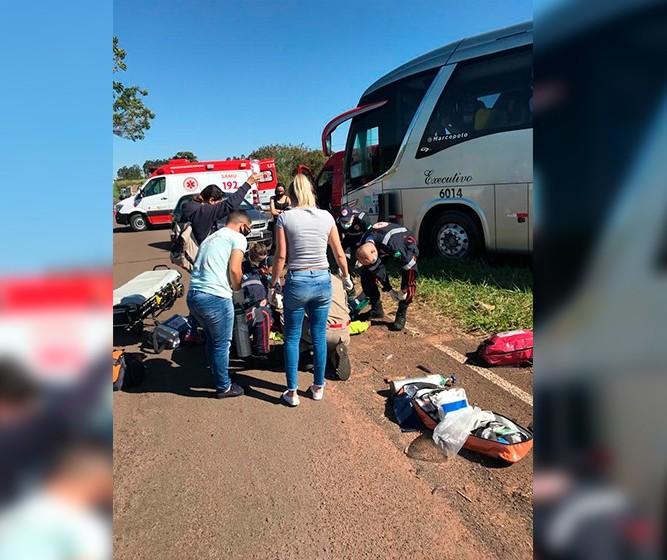 Motociclista morre em acidente com ônibus de linha