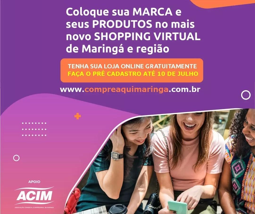 Acim firma parceria com loja online do Grupo Maringá de Comunicação