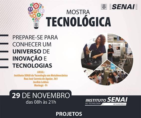 Alunos do Senai apresentam projetos