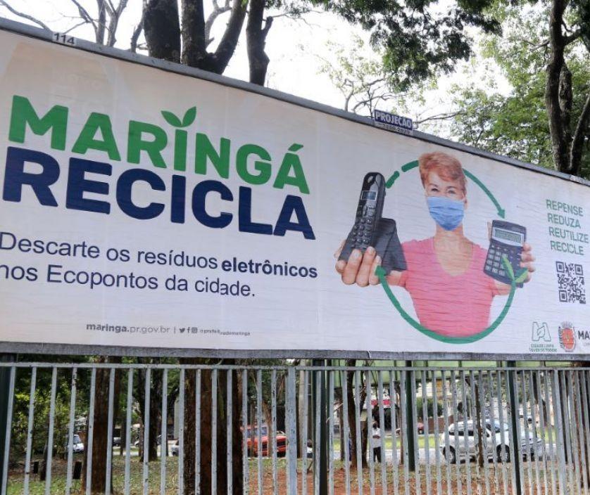 Maringá Recicla volta a distribuir sacos verdes na semana que vem, diz secretário