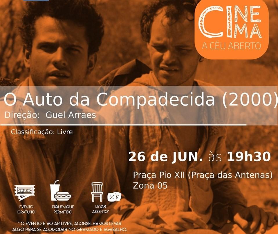 """""""O Auto da Compadecida"""" é exibido em Cinema a Céu Aberto"""